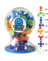 Squigz Deluxe 50 piece set - Bath Toys for Ages 3 to 8 - Fat Brain Toys