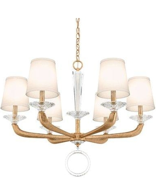 Schonbek Emilea 6 - Light Shaded Classic / Traditional Chandelier MA1006N Finish: French Gold