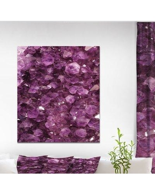 "East Urban Home Stone 'Purple Gems' Graphic Art Print on Wrapped Canvas ETUC0345 Size: 40"" H x 30"" W x 1.5"" D"