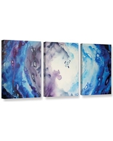 """Latitude Run Moonlight by 3 Piece Painting Print on Wrapped Canvas Set LTRN5639 Size: 24"""" H x 48"""" W x 2"""" D"""