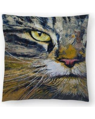 """East Urban Home Michael Creese Norwegian Forest Cat Throw Pillow EUHG3673 Size: 18"""" x 18"""""""