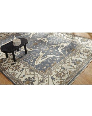 Darby Home Co Mitul Hand Knotted Wool Blue/Ivory Area Rug DRBH4155 Rug Size: Rectangle 8' x 10'