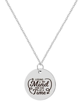 """Anavia """"Losing My Mind One Kid At A Time"""" Inspirational Stainless Steel Silver Disc Necklace 22mm Pendant Jewelry with Gift Box"""