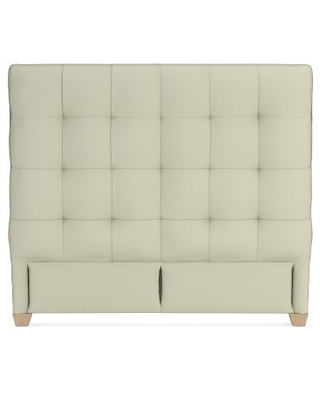 """Gable 53"""" Headboard Only, Queen, Faux Suede, Stone, Natural Leg"""