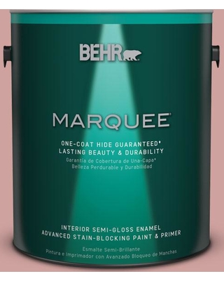 BEHR MARQUEE 1 gal. #S150-3 Rose Pottery One-Coat Hide Semi-Gloss Enamel Interior Paint and Primer in One