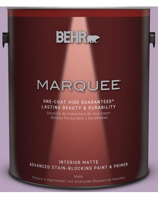 BEHR MARQUEE 1 gal. #M100-3 Svelte One-Coat Hide Matte Interior Paint and Primer in One