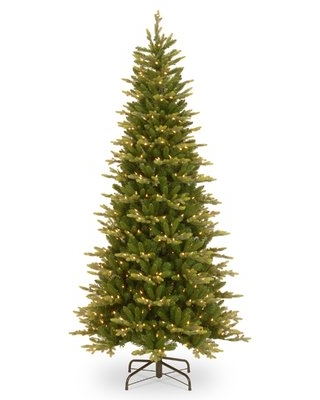 Slim PowerConnect 7.5' Green Spruce Artificial Christmas Tree with 600 Clear Lights August Grove