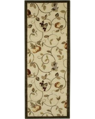 "Brumlow Mills Miracle Fruit Dark Green/Cream Area Rug 924 Rug Size: Rectangle 1'8"" x 5'"
