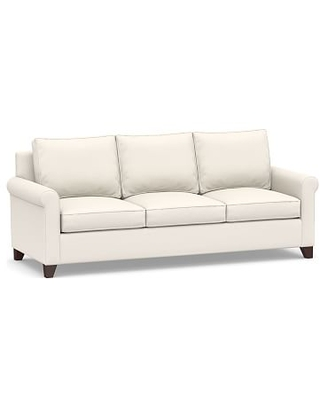 Cameron Roll Arm Upholstered Side Sleeper Sofa, Polyester Wrapped Cushions, Performance Chateau Basketweave Ivory
