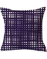 "SafiyaJamila Framework Random Striped Throw Pillow Framework_Flush Pink1, 2, 3 Size: 20"" H x 20"" W x 5"" D, Color: Purple"