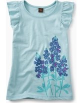 Tea Collection Blue Bonnet Ruffle Knit Top