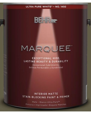 BEHR MARQUEE 1 gal. #MQ6-28 Crushed Oregano One-Coat Hide Matte Interior Paint and Primer in One