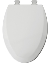 Mayfair Elongated Molded Wood Toilet Seat with Easy•Clean & Change Hinge, White
