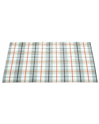 Guzzini Art And Cafe 18-Inch by 13-Inch Tartan Placemat, Orange