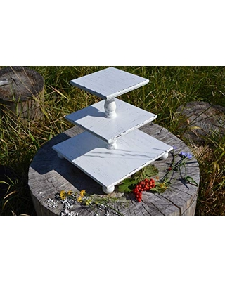 3-tiered square White Wedding Cupcake stand,Stand cake rustic,cake stand kit, cake stand kit for wedding, cake stand layer, cake stand opulent,cake stand tall, cake stand unique, cake stand victorian