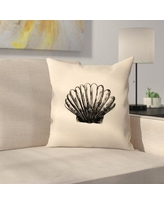 "East Urban Home Jetty Printables Illustrated Sea Shell 3 Throw Pillow EUHG3568 Size: 20"" x 20"""