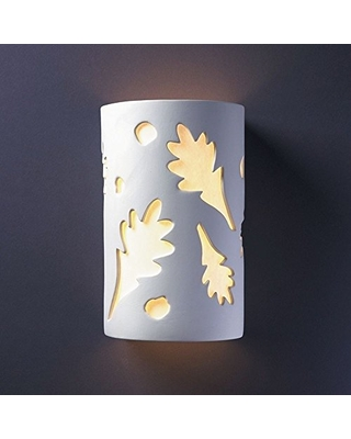 Justice Design Group Ambiance Collection 2-Light Wall Sconce - Bisque Finish, Bisque (Unfinished Ceramic)