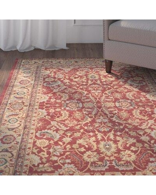 Astoria Grand Pennypacker Oriental Red/Beige/Blue Area Rug X111142101 Rug Size: Rectangle 3' x 5'