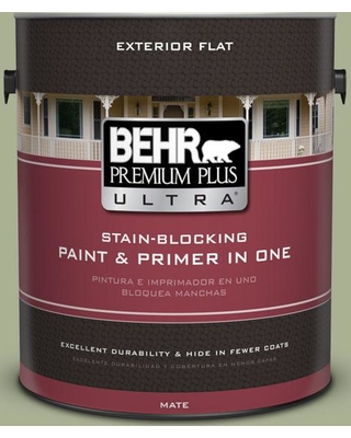 BEHR Premium Plus Ultra 1 gal. #PPU10-06 Spring Walk Flat Exterior Paint and Primer in One