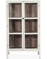 Hadley 56 Library Cabinet with Glass - Shell (White) - Threshold
