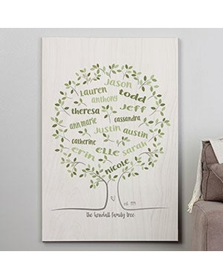 Family Tree Of Life 28x42 Personalized Canvas Print
