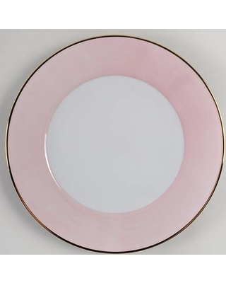 Spal Porcelanas Spz30 Pink Dinner Plate Fine China Dinnerware Brushed Rim