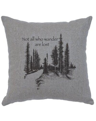 Union Rustic Caseareo Wander Throw Pillow X113750117 Color: Gray