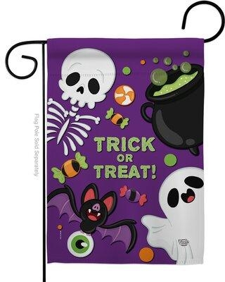 Spectacular Sales For Ornament Collection Trick Ot Treat Impressions Decorative 2 Sided Polyester 19 X 13 In Garden Flag In Purple Gray Wayfair