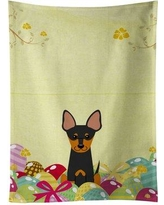 The Holiday Aisle Easter Eggs English Toy Terrier Rectangle Dishcloth THLA4598