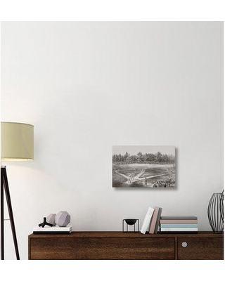 """East Urban Home 'American National Game of Base Ball' Graphic Art Print on Canvas ESUH9010 Size: 16"""" H x 24"""" W x 2"""" D"""