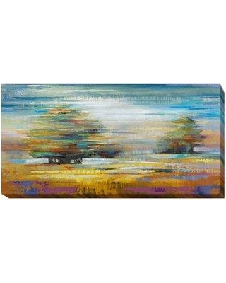 """Artistic Home Gallery 'Windblown I' Oil Painting Print on Wrapped Canvas 701EG Size: 24"""" H x 48"""" W x 1.5"""" D"""