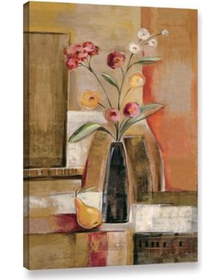 """Alcott Hill Pear And Ranunculi Painting Print on Wrapped Canvas ALCT6757 Size: 8"""" H x 12"""" W x 2"""" D"""