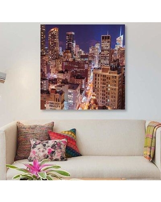"East Urban Home 'New York III' Graphic Art Print on Canvas EBHU7516 Size: 26"" H x 26"" W x 1.5"" D"