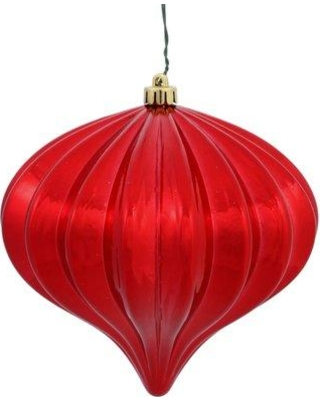 The Holiday Aisle Christmas Finial Drop Ornament with Secured Cap HLDY3001 Color: Red