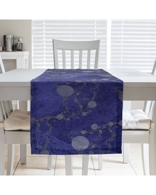 Multicolor Planets & Stars Table Runner (16 x 72 - Polyester - Blue Ombre)