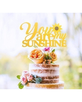 you are my sunshine cupcake toppers sunflower baby shower sunflower decor sunflower bridal shower table decor