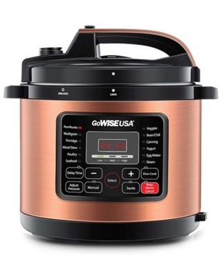 GoWISE USA® 10 qt. 12-in-1 Electric Pressure Cooker in Copper