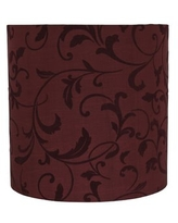 """10"""" H Faux silk fabric Drum Lamp Shade ( Spider ) in Brown"""