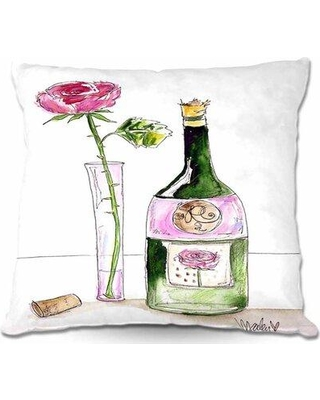 "Charlton Home Takengon Couch Rose Wine Throw Pillow W000284422 Size: 16"" x 16"""