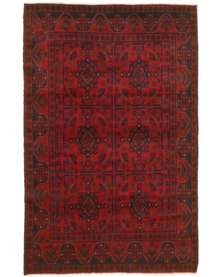 Hand-knotted Finest Khal Mohammadi Red Wool Rug - ECARPETGALLERY - 4'2 x 6'5