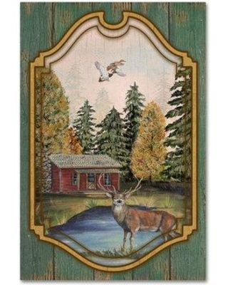 """Millwood Pines 'Wilderness Lodge 28' Graphic Art Print on Wrapped Canvas MLWP4355 Size: 47"""" H x 30"""" W"""