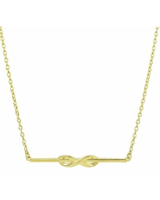 """Sechic 14k Gold Infinity Bar Necklace, Women's, Size: 18"", Yellow"""