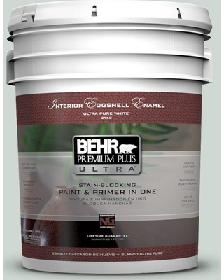 BEHR Premium Plus Ultra 5 gal. #bic-11 Serene Journey Eggshell Enamel Interior Paint and Primer in One