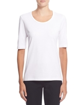 Women's Theory Pima Cotton Top, Size Large - White