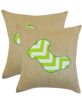 The Holiday Aisle Christmas Stocking Linen Throw Pillow THLY3134