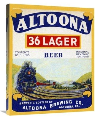 """East Urban Home 'Altoona 36 Lager Beer' Graphic Art Print on Canvas ESUH9237 Size: 30"""" H x 24"""" W x 2"""" D"""