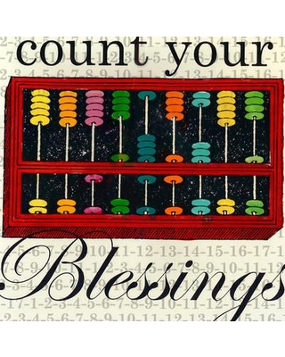 """GreenBox Art 'Count Your Blessings' Graphic Art Print CU246 Format: Canvas Size: 18"""" H x 18"""" W x 1.5"""" D"""