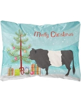 The Holiday Aisle Hollier Belted Galloway Cow Christmas Fabric Indoor/Outdoor Throw Pillow BF148758