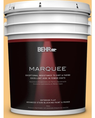 Phenomenal Deals On Behr Marquee 5 Gal Ppu6 07 Jackfruit Flat Exterior Paint And Primer In One