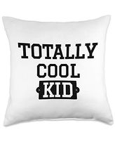 Statement Blend Totally cool kid Throw Pillow, 18x18, Multicolor